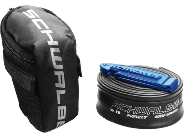 SCHWALBE Saddle Bag inclusive Road Bike Tube SV15 40mm and Tire Lever